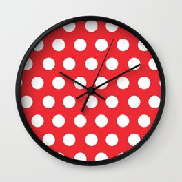 Minnie Mouse Dots | Red Wall Clock