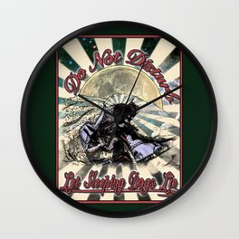 Let Sleeping Dogs Lie Wall Clock