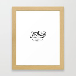 Fishing Spots HQ Framed Art Print