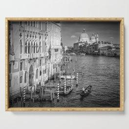 VENICE Canal Grande & Santa Maria della Salute | Monochrome Serving Tray