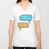 parks and recreation V-neck T-shirts featuring Parks and Recreation by Elanor Jarque