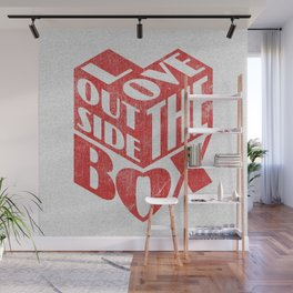 Love Outside The Box Wall Mural