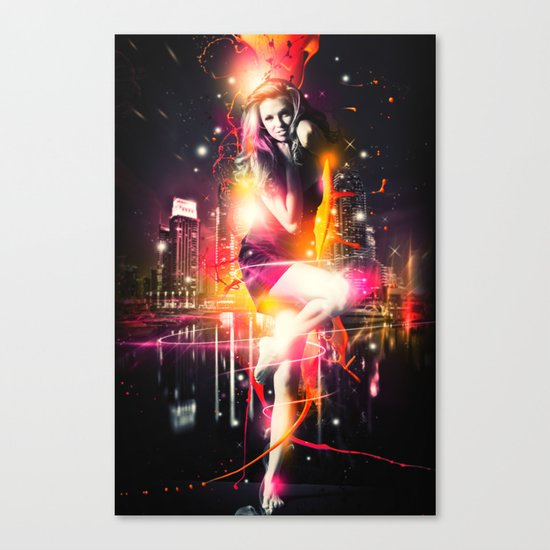 Citylights Canvas Print
