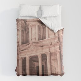 Camels at Petra | Vintage Stunning Stone Monument Hidden Lost City Treasury Carved Cliff Comforters