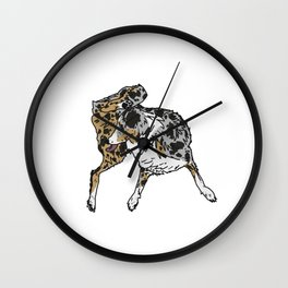 Dog Lover (Spotted Australian Shepherd) Wall Clock