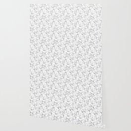 Stethoscopes - Black on White Wallpaper