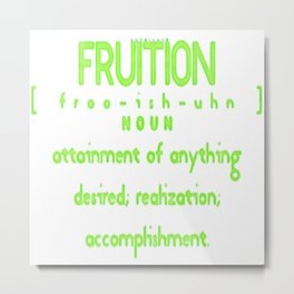 The definition of fruitful BLuvid Metal Print