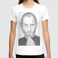 steve jobs T-shirts featuring Steve Jobs by Feroz Bukht