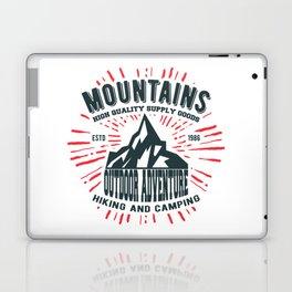 Mountains stamp print design Laptop & iPad Skin