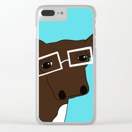 Matilda the Hipster Cow Clear iPhone Case