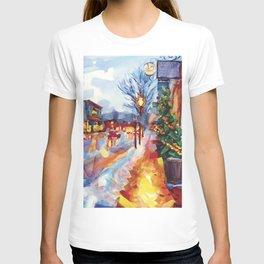 Night lights on Bellevue, Newport T-shirt