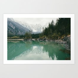 Turquoise lake - Landscape and Nature Photography Art Print