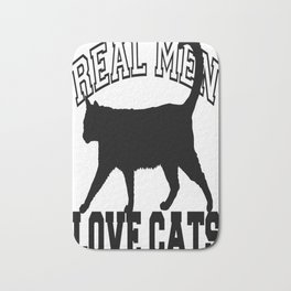 Real Men Love Cats Tee Bath Mat