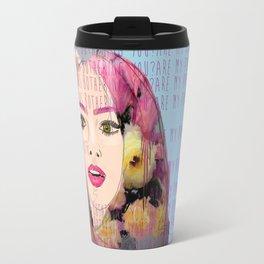 Are my pink eyebrows bothering you?  Travel Mug