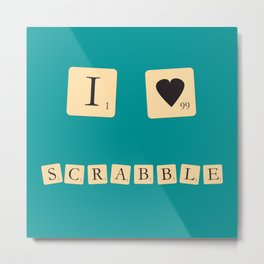 I heart Scrabble Metal Print