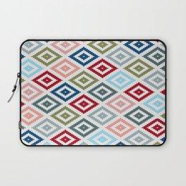 Multicolored Diamond Shapes Granny Pattern v1 Laptop Sleeve