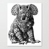 bioworkz Canvas Prints featuring Koala by BIOWORKZ
