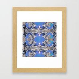 Boujee Boho Royal Glow Indigo Framed Art Print