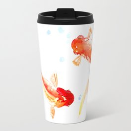 Goldfish, Two Koi Fish Travel Mug
