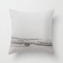 New Jersey Lifeboats Throw Pillow