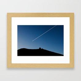 Line in the Sky Framed Art Print