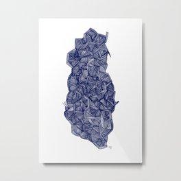 - blue lines - Metal Print