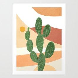 Abstract Cactus II Art Print