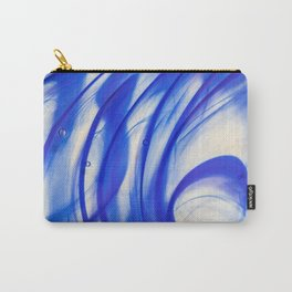 Abstract blue glass texture Carry-All Pouch