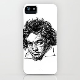 Ludwig Van Beethoven line drawing iPhone Case