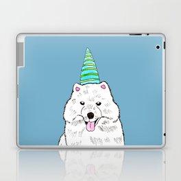 Samoyed with Party Hat Laptop & iPad Skin
