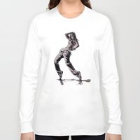 hiphop Long Sleeve T-shirts featuring B GIRL - vanguard style by ARTito