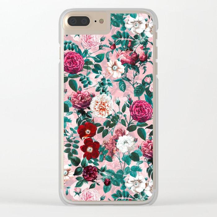 Summer Botanical Garden X Clear iPhone Case