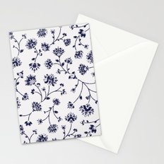 Indigo Floral Trail (reversed) Stationery Cards