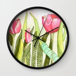 Dancing Tulips Wall Clock