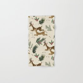 winter deer // repeat pattern Hand & Bath Towel