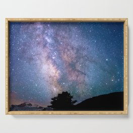 The Night Sky II - glowing stars Serving Tray
