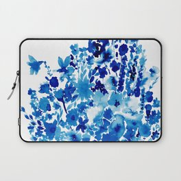 Blue Floral Laptop Sleeve