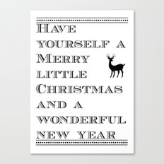 Christmas is near...time flies - Holidaze Canvas Print