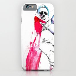 Abstract Sexy Man in Watecolor iPhone Case