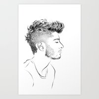 zayn Art Prints featuring Zayn by Ashdon Slone
