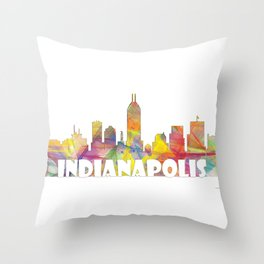 Indianapolis Indiana  Skyline MCLR 2 Throw Pillow