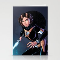 princess leia Stationery Cards featuring Princess Leia by J Skipper