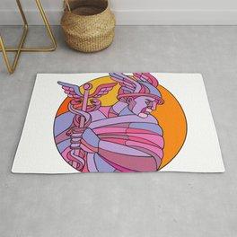 Messenger of the Gods Mosaic Color Rug