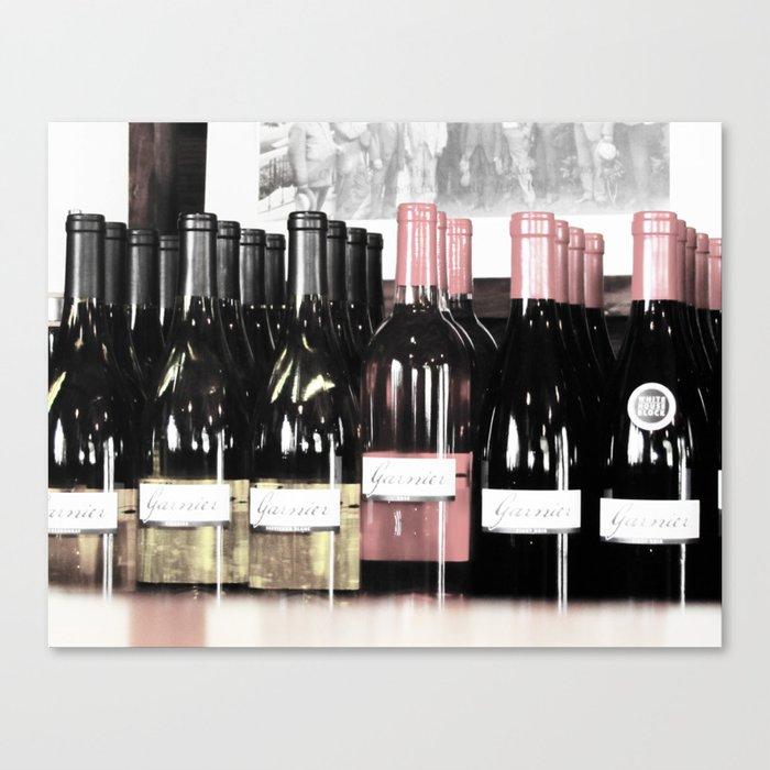 Garnier Vineyards - Bottle Art 2 Canvas Print