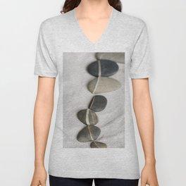zen pebble line Unisex V-Neck