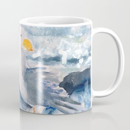 A Watercolor Seagull Named Fred (on Second Cliff in Scituate) Coffee Mug