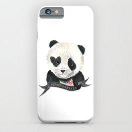 Panda Bear · Heart Breaker · Baby Animal · Nursery Art · Kids Room iPhone Case