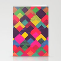 georgiana paraschiv Stationery Cards featuring colour + pattern 11 by Georgiana Paraschiv