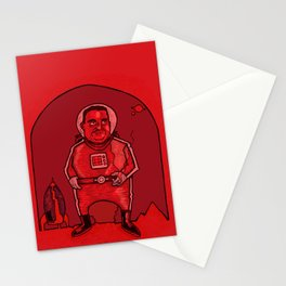 Smokebreak on Mars Stationery Cards