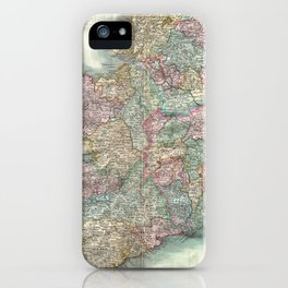 Vintage Map of Ireland (1799) iPhone Case